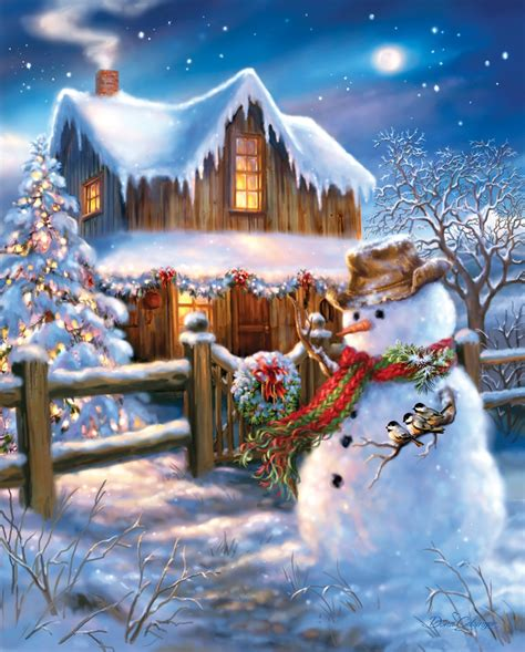 images of christmas in the country the country christmas jigsaw puzzle puzzlewarehouse com
