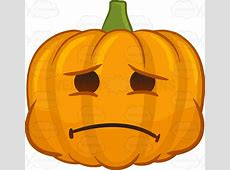 A Halloween Pumpkin With Deep Regret Cartoon Clipart ... Heartbroken Emoji