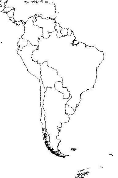 blank map of south america world history