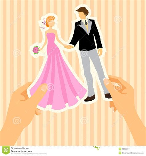 Wedding Card With Groom And by Wedding Card With And Groom Stock Vector Image