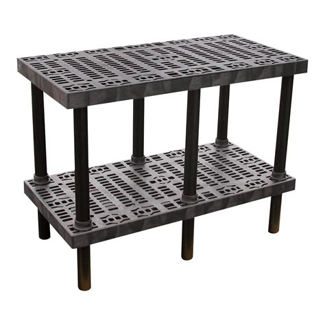 plastic bench tops product vestil plastic workbench grid top 48in w x