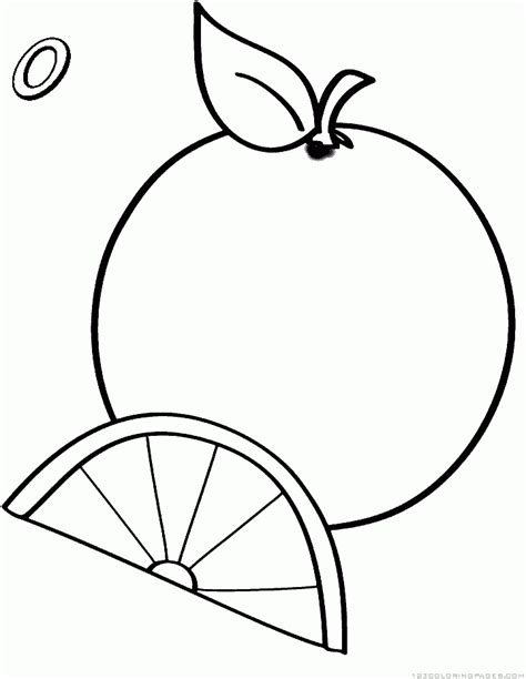 orange fruits coloring pages printable orange best free