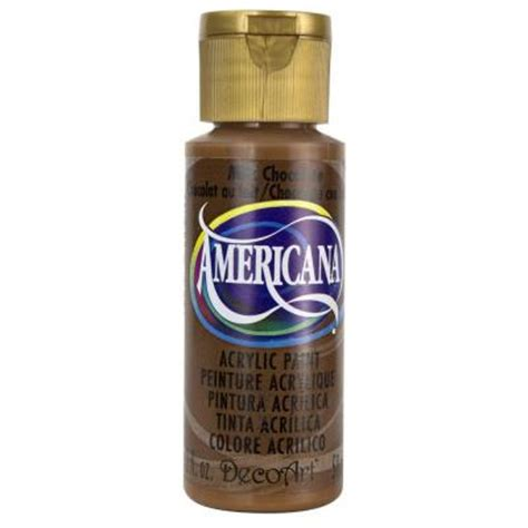 decoart americana 2 oz milk chocolate acrylic paint da174 3 the home depot