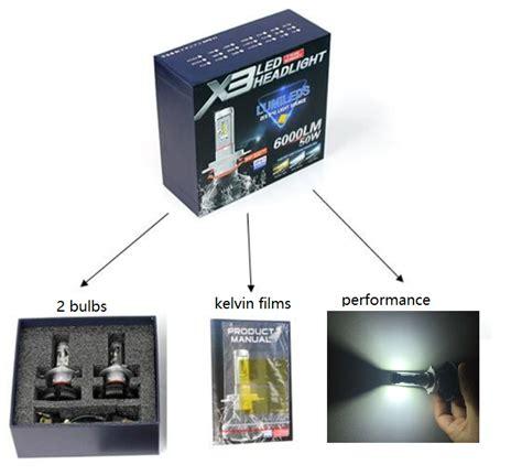 Led H4 Mobil X3 Lumiled Zes Chip x3 led headlights 50w h4 6000lm