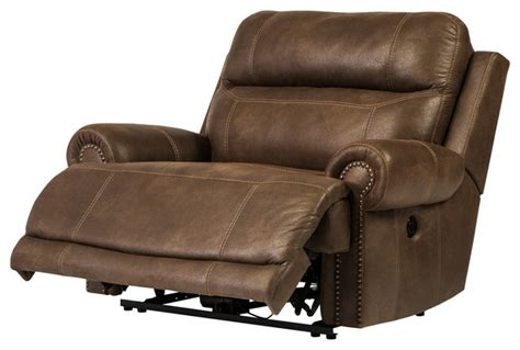 Zero Wall Recliner Austere Zero Wall Power Wide Recliner Brown Transitional Recliner Chairs By Bedroom