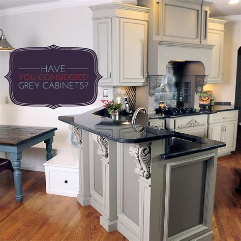 Kitchen : Excellent Modern Gray Kitchen Cabinets Ideas