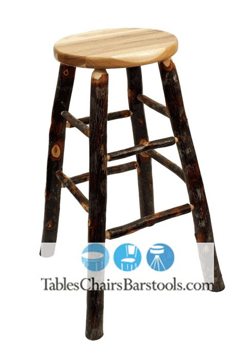 rustic hickory bar stools amish built rustic lodge backless hickory stick bar stool