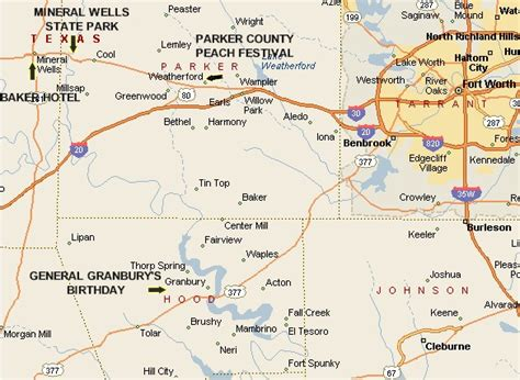 mineral texas map county festival location map