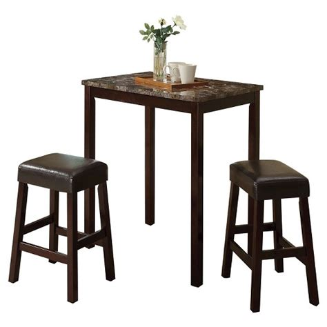 bruce faux marble counter height set dining room sets idris 3 piece counter height dining set faux marble and