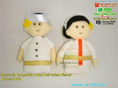 Kain Spunbond Tanah Abang boneka pengantin adat bali bahan flanel souvenir pernikahan