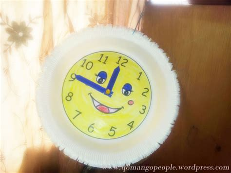 How To Make A Paper Clock - crafts diy thermocol plate clock q8 mango
