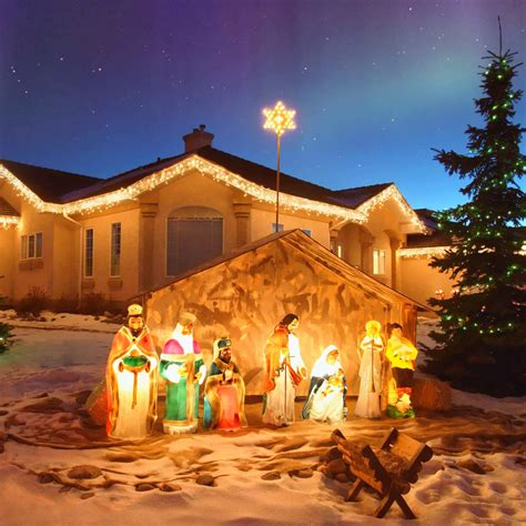 outside lighted nativity lighted nativity set outdoor decoration