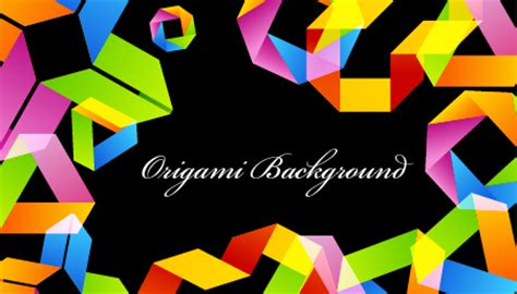 origami vector tutorial how to create a bright background in an origami style