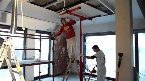 Sheetrock Ceiling by Podnośnik Do Płyt G K Www Rolicz Com Youtube