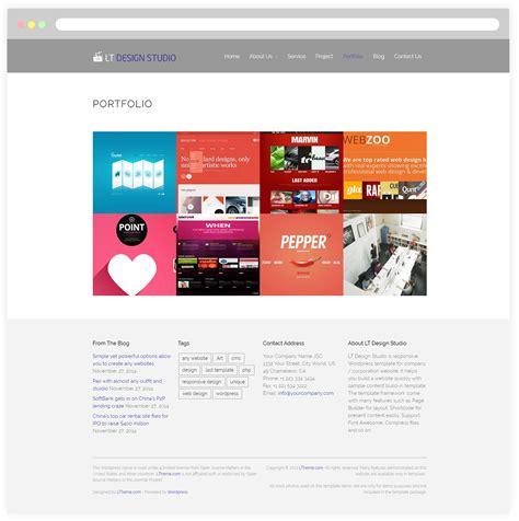 free wordpress themes design studio lt design studio free responsive creative design
