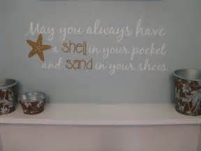 beach saying wall decal may you always have shell in your beach hut vinyl wall sticker contemporary wall stickers
