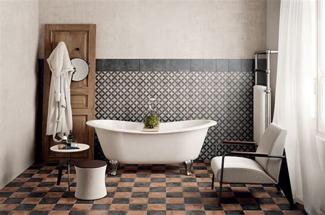 Classic mosaic as vintage bathroom floor tile ideas and other related