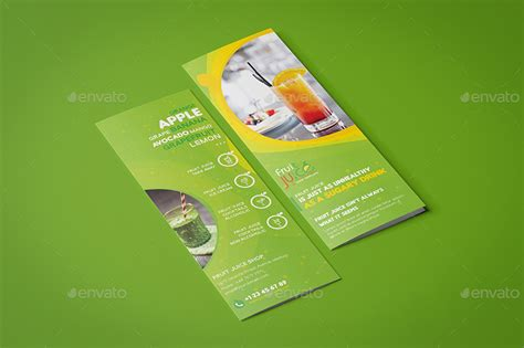 mini brochure template fruit juice shop take out brochure and mini menu template