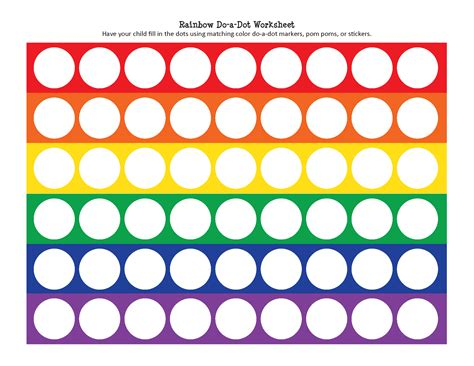 does a rainbow do a dot worksheet gift of curiosity