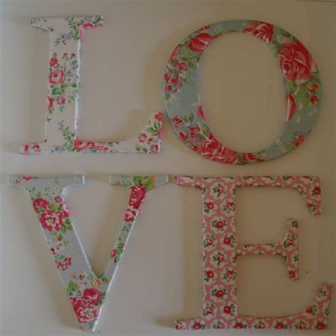 Decoupage Letters - 17 best images about decoupage ideas on