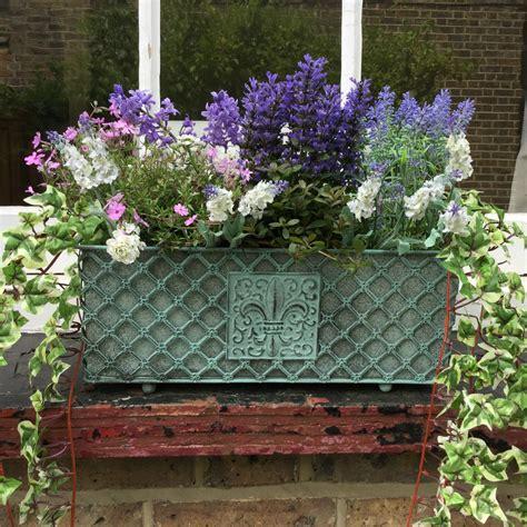Metal Garden Planters Troughs by Antique Vintage Style Metal Garden Planter Window