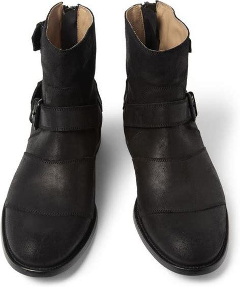 belstaff boots mens belstaff trialmaster oiledsuede boots in black for lyst