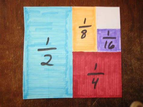 Paper Folding Fractions - 17 best images about math fraction craft on