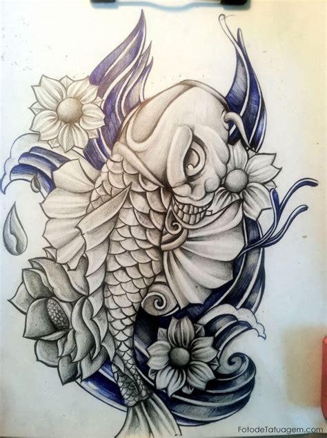 desenhos para tatuagem de carpa foto de tatuagem