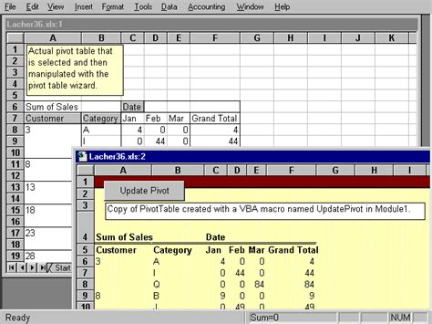 creating an automatic copy of a pivottable