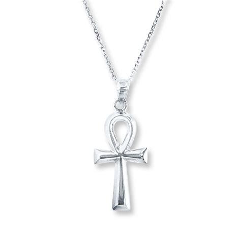 ankh necklace sterling silver