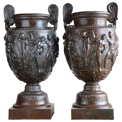 pair of cast iron vases after the townley s vase