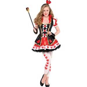 Fancy dress childrens costumes queen of hearts teenager costume