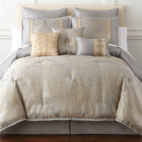 home expressions comforter sets home expressions carlisle 7 pc comforter set jcpenney