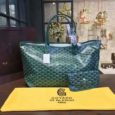 The Go Green Goyard St Louis Shopper Tote by Goyard Classic Chevron St Louis Gm Green Tote Bag Goyard