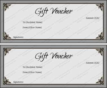gift certificate templates  word easy  customize print