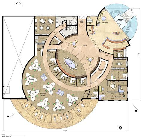 circular floor plans sustainable credit union by lauren mammano at coroflot com