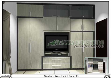 Lemari Pakaian Dan Tv Lemari Minimalis Model Tv Unit Wave Allia Furniture