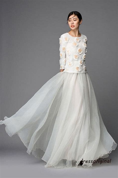 top quality white tulle skirt floor length tutu skirt maxi