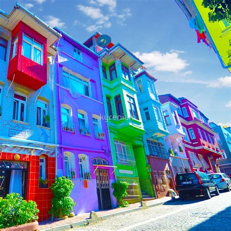 colorful turkey quot colorful houses istanbul quot by kyrenian redbubble