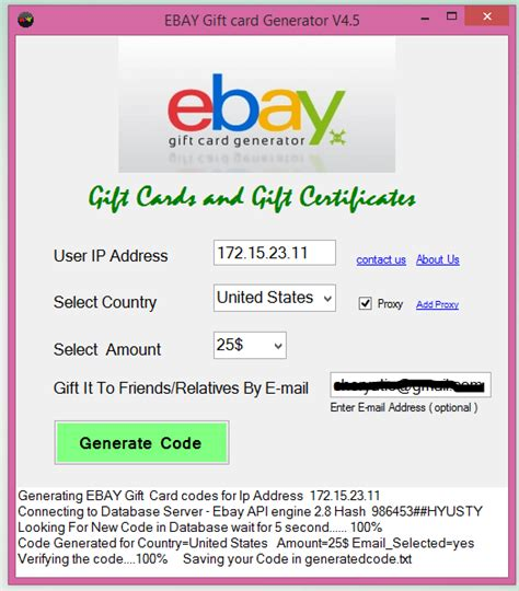 free ebay gift card code generator no survey - Ebay Gift Card Codes