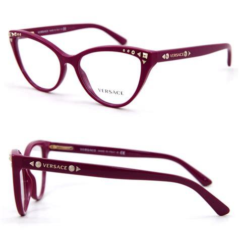 versace mod ve3191 5067 cyclamen purple eyeglasses frame