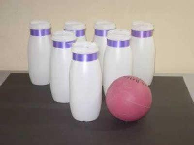 botellas de plastico construccion y manualidades hazlo tu mismo juego de bowling reciclando botellas construccion y