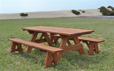 Wood Picnic Table Kit by Large Wooden Picnic Table Custom Wood Picnic Table Kit