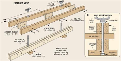 woodworking caul woodsmith tip adjustble panel cauls