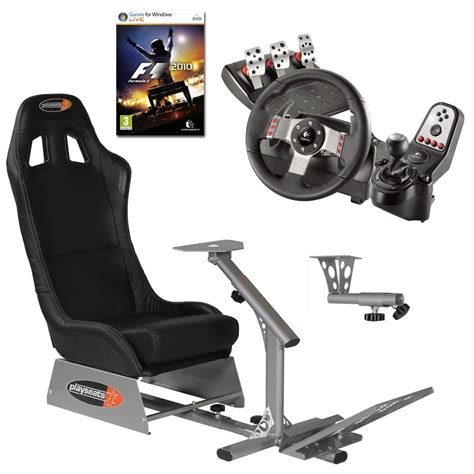 volante pc logitech g27 playseats evo seat slider gearshift holder volant
