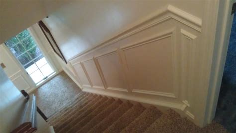Chair Rail Up Stairs by Yeager Woodworking Staircase And Railings