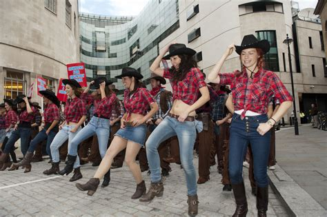 best country dance music video cowboy protest held in london zimbio