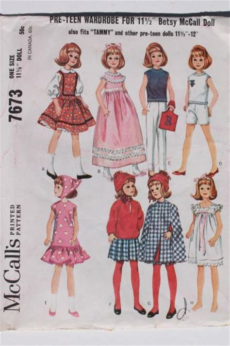 fashion doll sewing patterns used doll clothes for sale