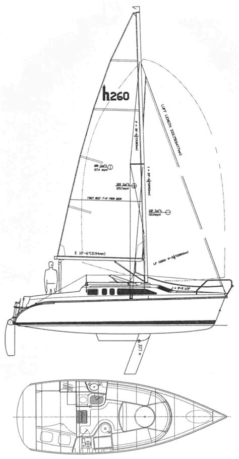 Home Map Design 20 50 Hunter 260 Sailboat Specifications And Details On