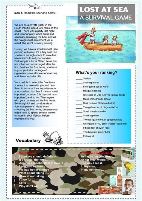 Lost At Sea Worksheet Answers by Lost At Sea Worksheet Wiildcreative